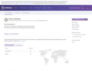 scheduler.heroku.com screenshot