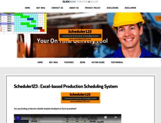 scheduler123.com screenshot