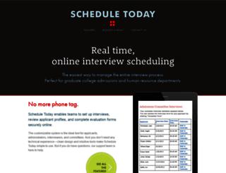 scheduletoday.com screenshot