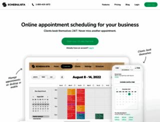 schedulista.com screenshot
