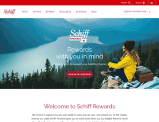 schiffloyaltyrewards.com screenshot
