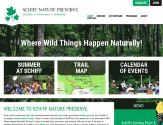 schiffnaturepreserve.org screenshot