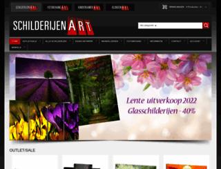 schilderijenart.nl screenshot