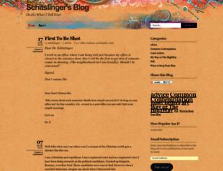 schitslinger.wordpress.com screenshot