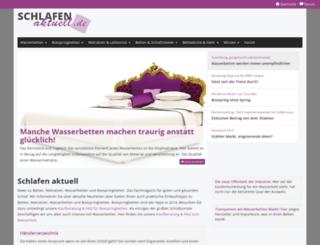 schlafen-aktuell.de screenshot