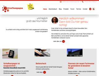 schlafkampagne.de screenshot