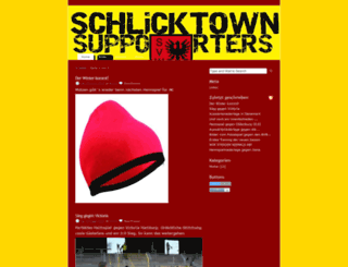 schlicktownsupporters.blogsport.de screenshot