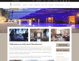 schlosshotel-muenchhausen.online-birds.com screenshot