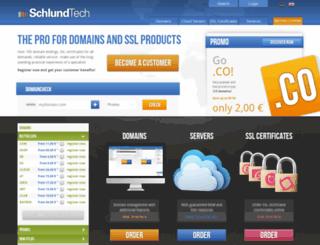 schlundtechnologies.com screenshot