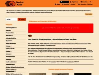 schnecken-und-muscheln.de screenshot