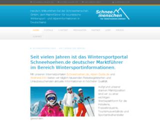 schneemenschen.net screenshot