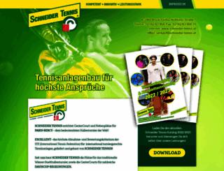 schneider-tennis.at screenshot