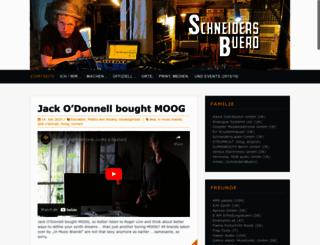 schneidersbuero.de screenshot