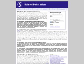 schnellbahn-wien.at screenshot