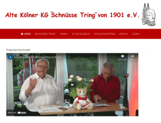 schnuesse-tring.de screenshot
