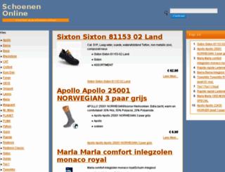 schoenenonlinenu.nl screenshot