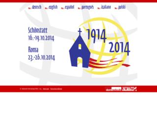 schoenstatt2014.org screenshot