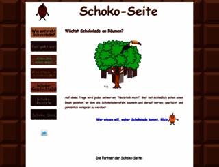 schoko-seite.de screenshot
