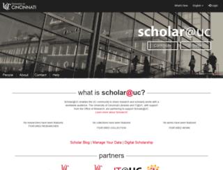 scholar-qa.uc.edu screenshot