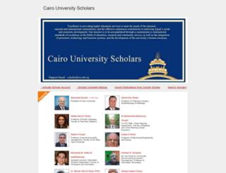 scholar.cu.edu.eg screenshot