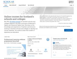 scholar.hw.ac.uk screenshot
