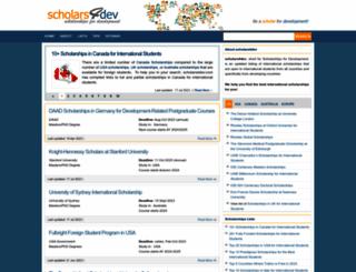 scholars4dev.com screenshot
