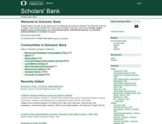scholarsbank.uoregon.edu screenshot