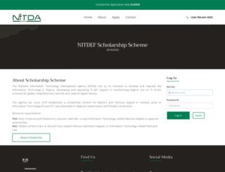 scholarship.nitda.gov.ng screenshot