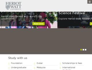 scholarships.hw.ac.uk screenshot