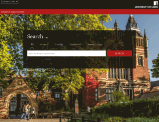 scholarships.leeds.ac.uk screenshot