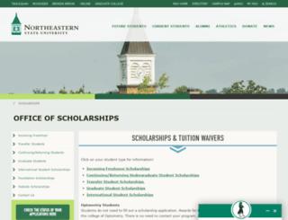 scholarships.nsuok.edu screenshot