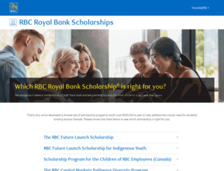 scholarships.rbc.com screenshot