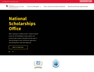 scholarships.umd.edu screenshot