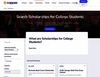 scholarshipsforcollege.meritaid.com screenshot