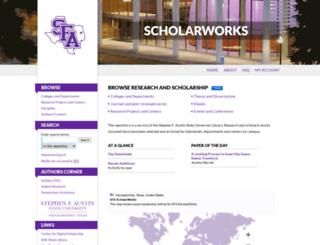 scholarworks.sfasu.edu screenshot