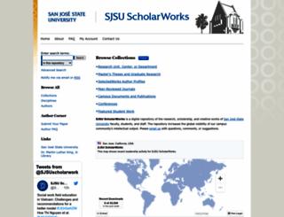 scholarworks.sjsu.edu screenshot