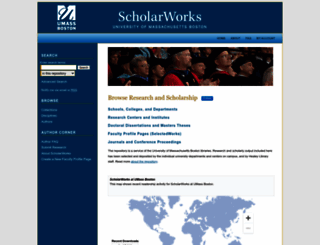 scholarworks.umb.edu screenshot