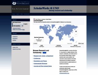 scholarworks.uno.edu screenshot