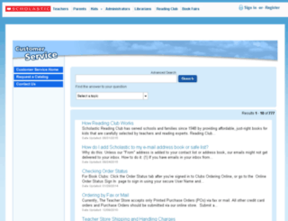 scholastic.custhelp.com screenshot