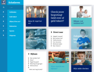scholieren.nibud.nl screenshot