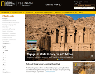 school.cengage.com screenshot
