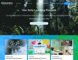 school.discoveryeducation.com screenshot