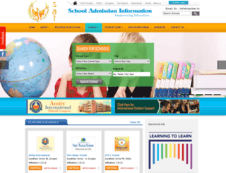schooladmissioninformation.com screenshot