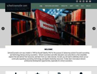 schoolcounselor.com screenshot