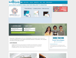 schoolguide.co.za screenshot