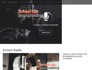 schoollifebroadcasting.com screenshot