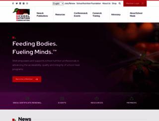 schoolnutrition.org screenshot