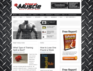 schoolofmuscle.com screenshot