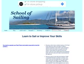 schoolofsailing.net screenshot