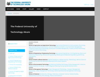 schools.futa.edu.ng screenshot